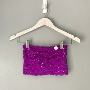Nwt Victoria's Secret purple lace bandeau top